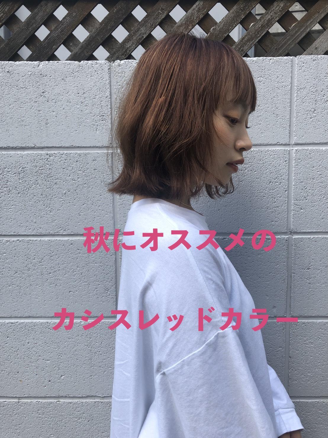 カシスレッド ピンク レッド ボブ ロブ 秋髪 秋カラー パープル アッシュ 暖色 暖色カラー 韓流